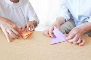 リハビリ訓練折紙